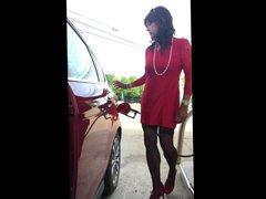 Gurl in vidz the Red  super Dress