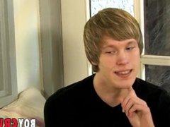 Young blond vidz interviewed before  super solo masturbation