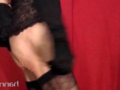 Crossdresser assplay vidz in black  super 45 cm