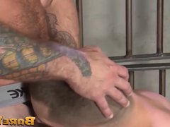 Muscular stud vidz bareback fucked  super and jizzed on his love hole