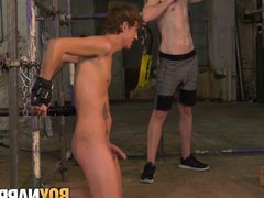 Young gay vidz Casper Ellis  super bound to suck twink masters big cock