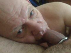 Lovely bald vidz grandpa worships  super cock (5)