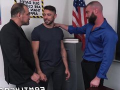 Bearded gay vidz teacher banged  super by student and his mature stepdad