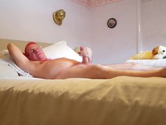Daddy Tim vidz strokes his  super cock and cums for me