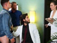 Mencom - vidz Hunk Doctor  super joins in couple fantasy 3some - Vadim Black, Diego