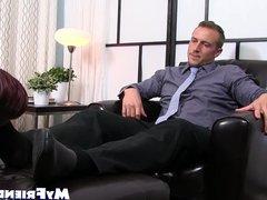 Businessman dominates vidz foot lover  super and enjoys armpit smelling