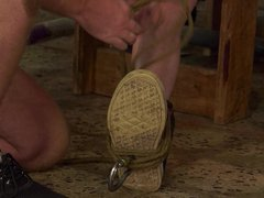 Bound twink vidz sub is  super used for candle and wax tormenting