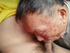 Asian grandpa vidz sucking cock  super in car