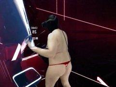Beat Saber vidz 1 part  super 3of4 open lingerie mixed VR
