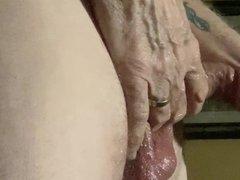 Oiled fucking vidz sex toy
