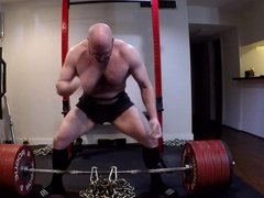 Bald Gay vidz Man with  super Spectacles Does Big Sexy Workout