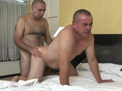 Lovely latin vidz old daddy  super sucks & gets fucked by hairy old man