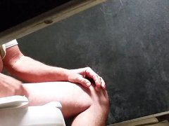 daddy play vidz with his  super nice cock public toilet