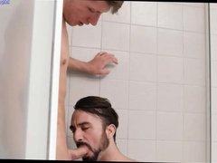 Gay sex vidz in the  super shower