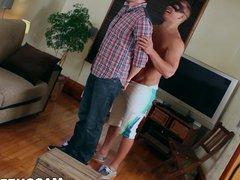 Alpha male vidz Brad shows  super off his massive cock during jerk off