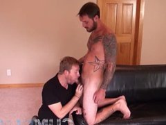 Handsome Guy vidz w/Massive Cock  super – Feeds Cum to Man + Funny Outtakes