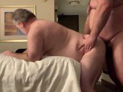 chubby old vidz man sucks  super cock gets bare fucked
