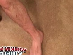 Stud passionately vidz tugs on  super his huge dick after an interview