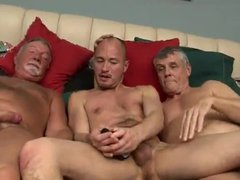 Threesome with vidz two older  super men & daddy 2