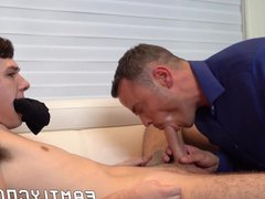Stepfather sucks vidz young dick  super before bare banging his lover