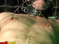 Submissive young vidz man moans  super as he is gagged and tied up