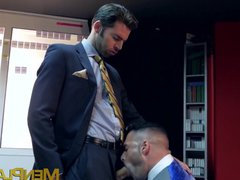 Executive has vidz his hard  super dick slobbered on and his ass pounded