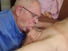 Handsome grandpa vidz (WG) gives  super an amazing blowjob