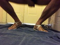 Trying out vidz my new  super sandals