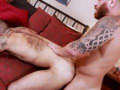 Bearback - vidz Julian Torres  super Chokes On Riley Mitchel's Cock