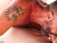 BEARFILMS Bear vidz Adam Jones  super Swaps Head 69 With Inked Daddy