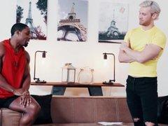 NoirMale - vidz white boy  super gets bounded by black jock